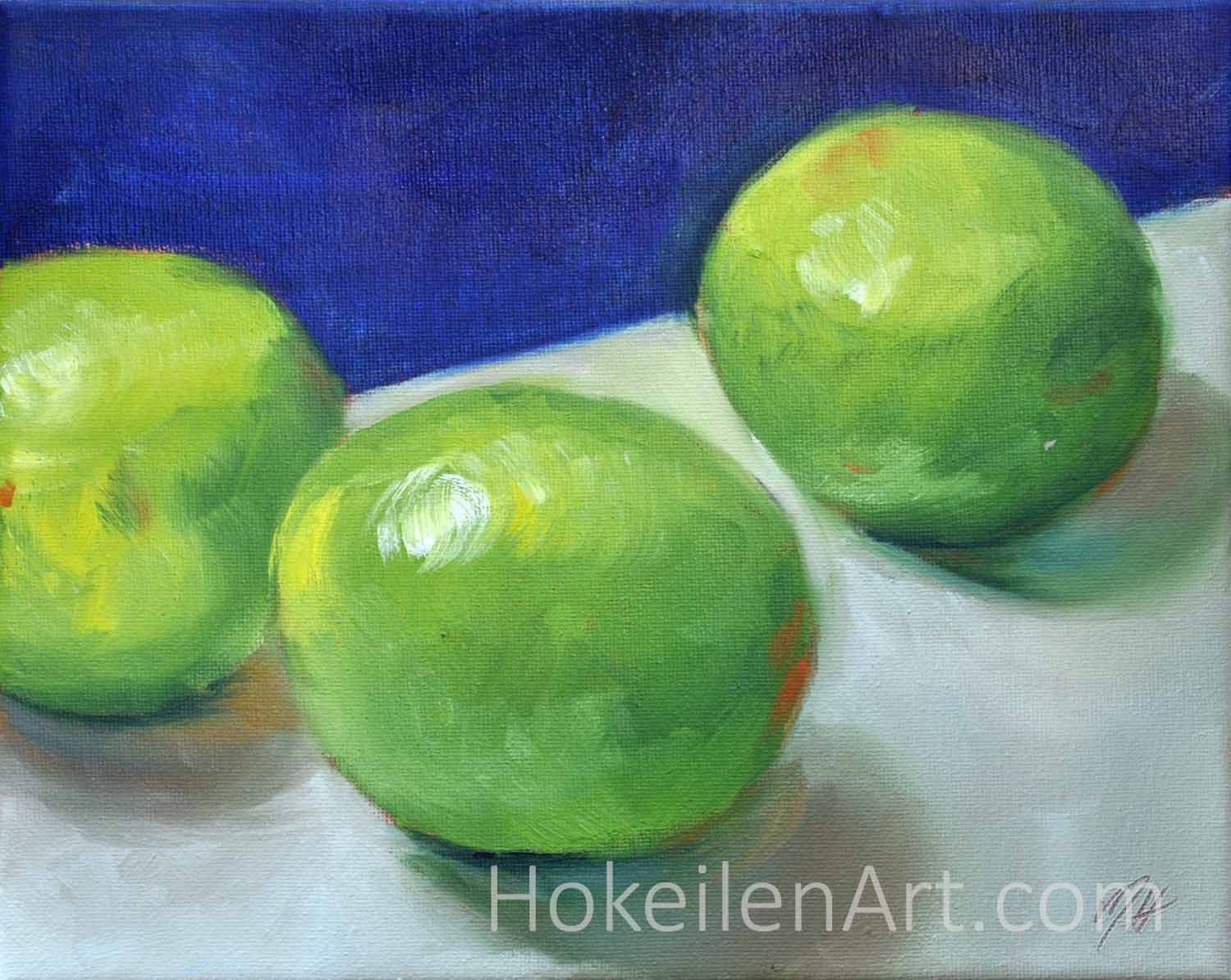Limes - oil on canvas, 8