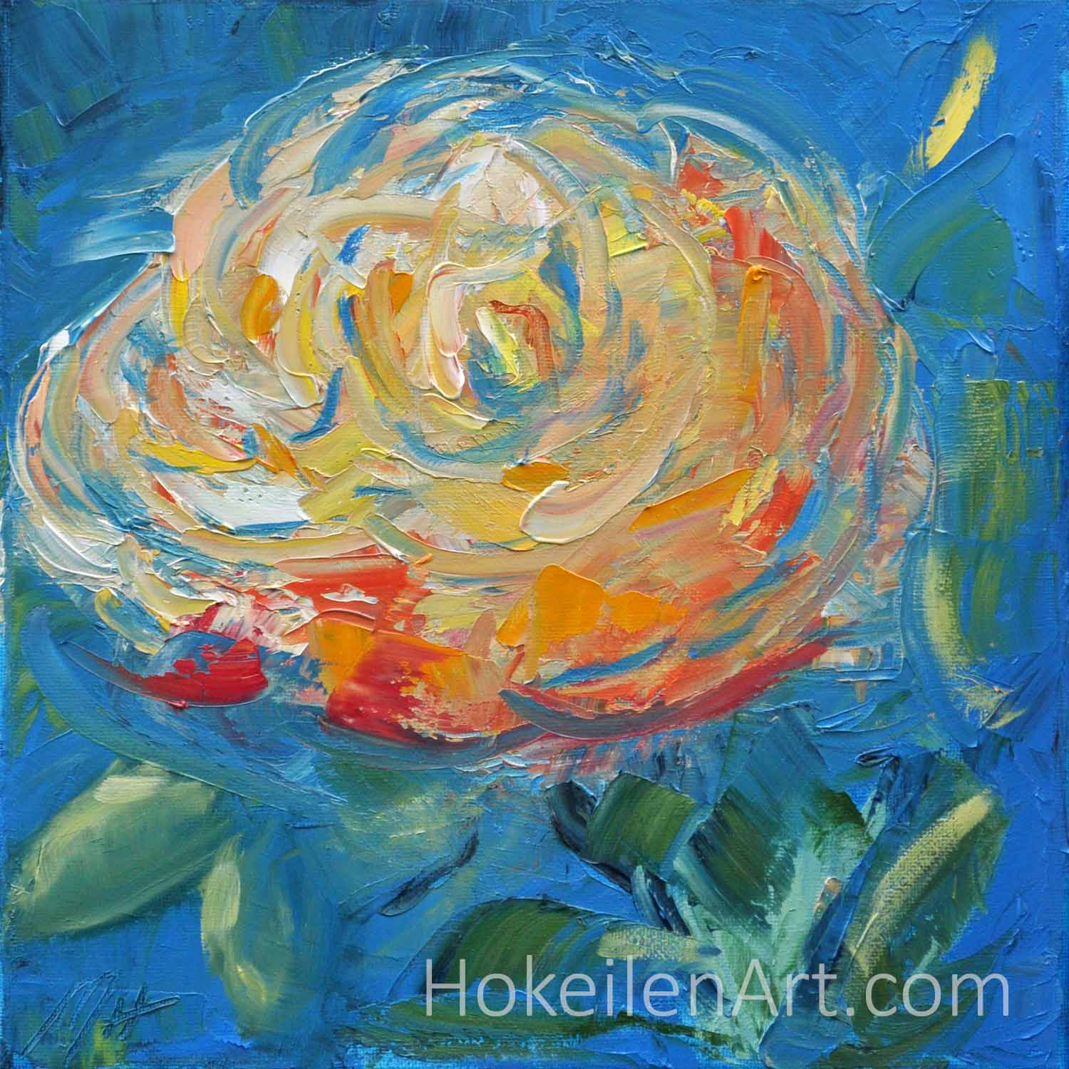 Mothers Day Rose - oil on canvas, 10