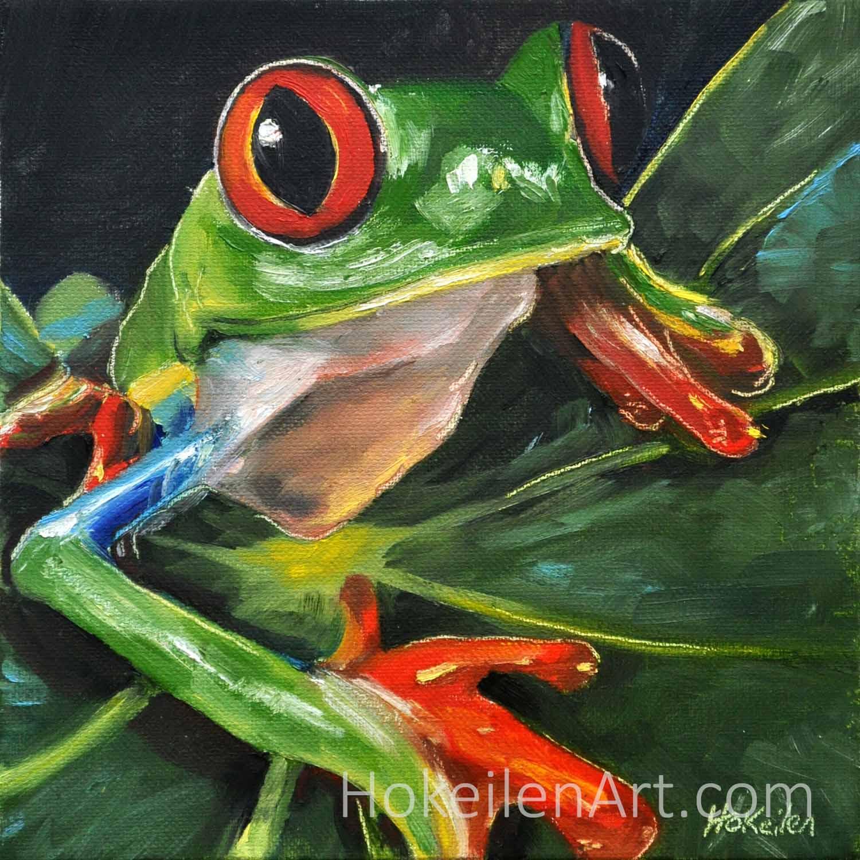 Hello - oil on canvas, 8