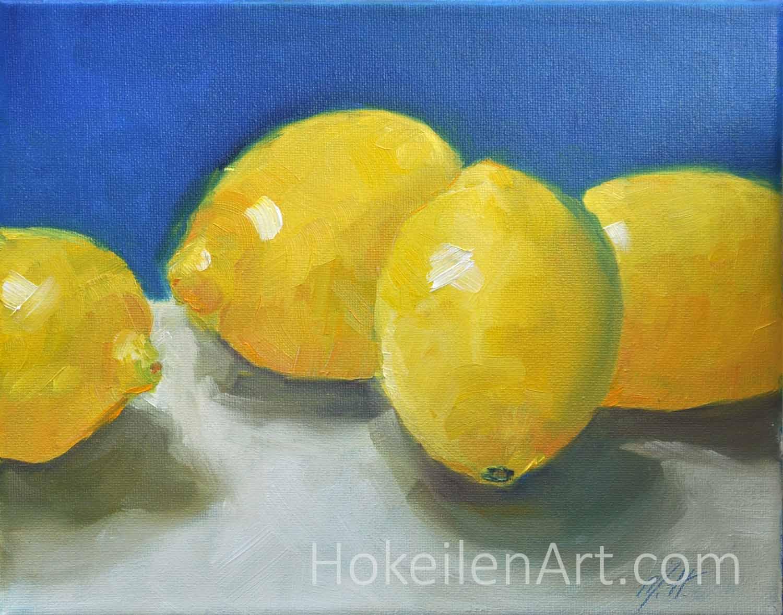 Lemons - oil on canvas, 8