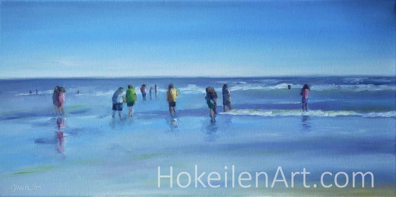 Sunday Morning at Jax Beach - oil on canvas 10