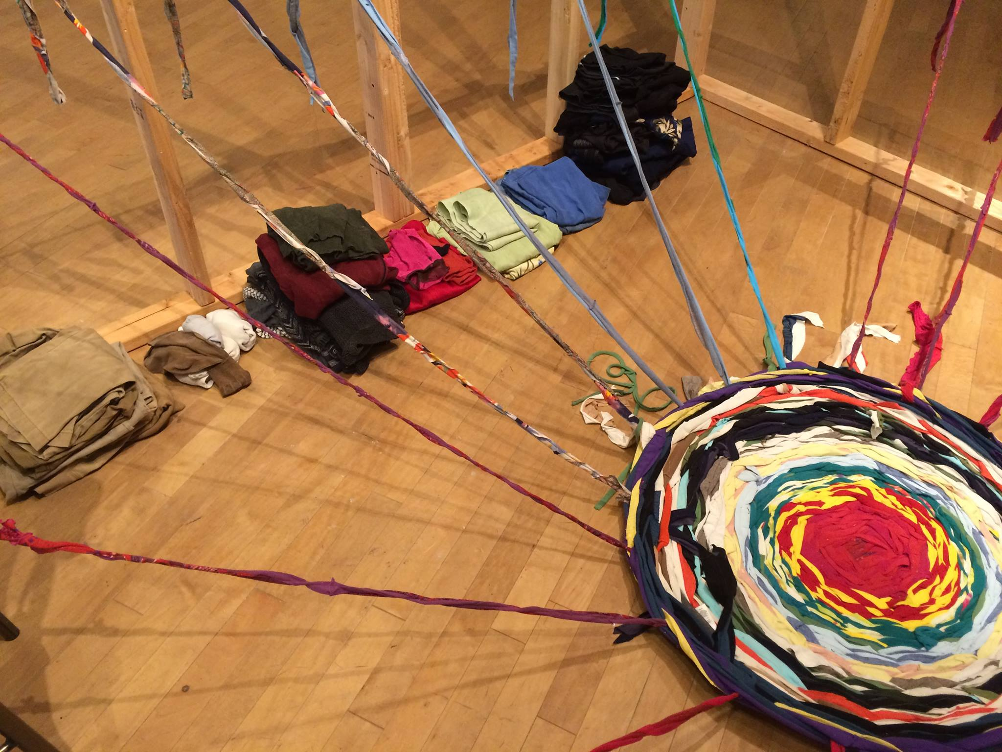 Sorting fabric at the MAH, Summer 2016