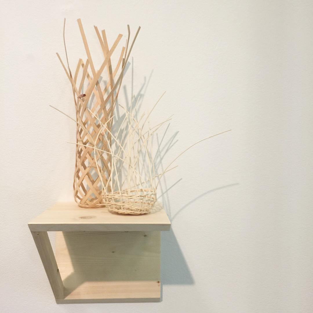 Found image of my installation at de Young. Okay, I googled myself+baskets. Nice!