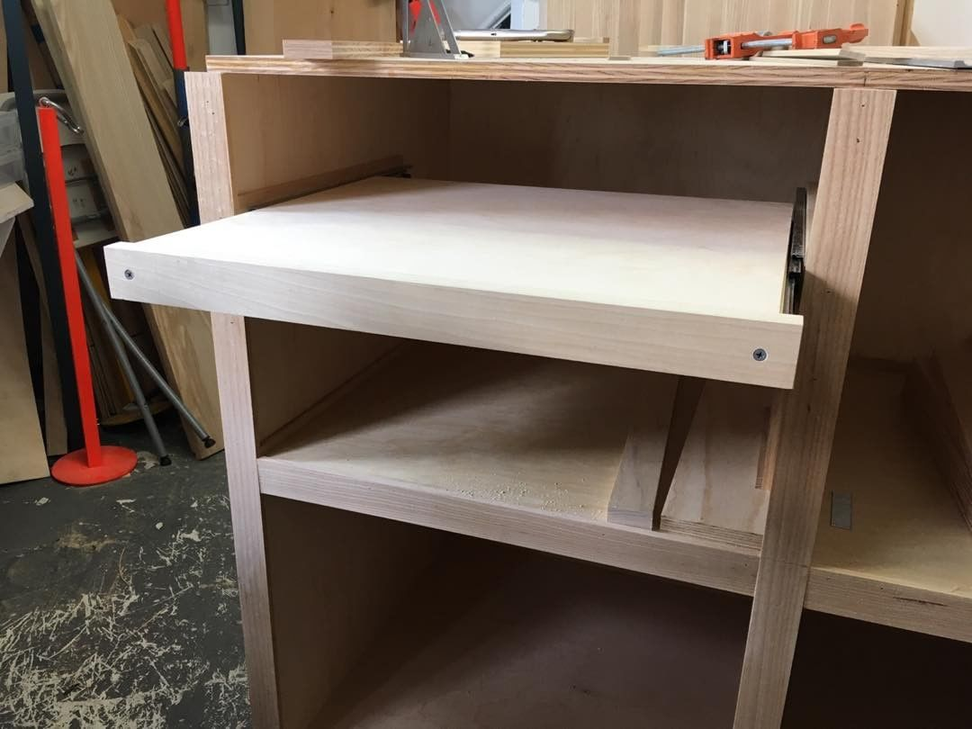 I've built 8 of these pull out shelves. 2 more to go!