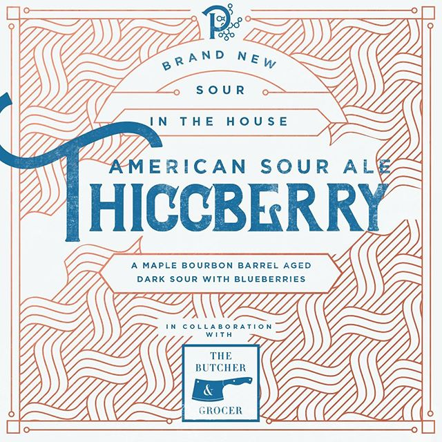 "I could try to write something.... but their caption is hilarious .. - - - - - - ""You want blondes for summer? TOO BAD. Thiccberry, our maple bourbon barrel aged blueberry sour is set to release this Saturday. And holy crap it is good."" . Beer was made in collaboration with @thebutcherandgrocer"