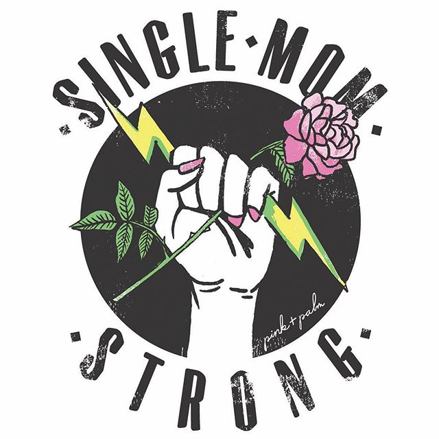 You are seen and saluted, mamas. ✊ . I may not be a single mother, but I know they are some of the toughest and hardest working people you could meet. Which is why @pinkandpalmco thought these hardcore goddesses deserved their own shirt honouring that strength. . Artwork created for @pinkandpalmco . Link in bio.
