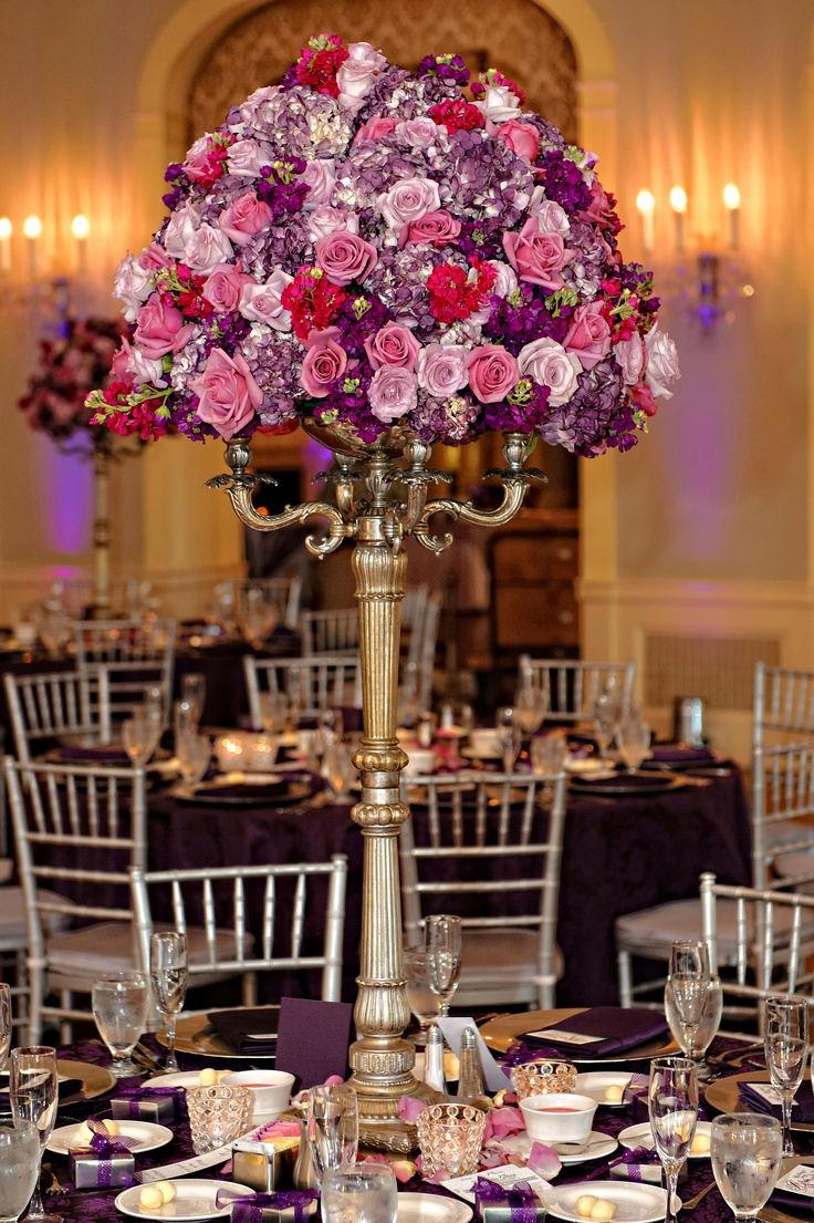 Silver Candelabras with flowers