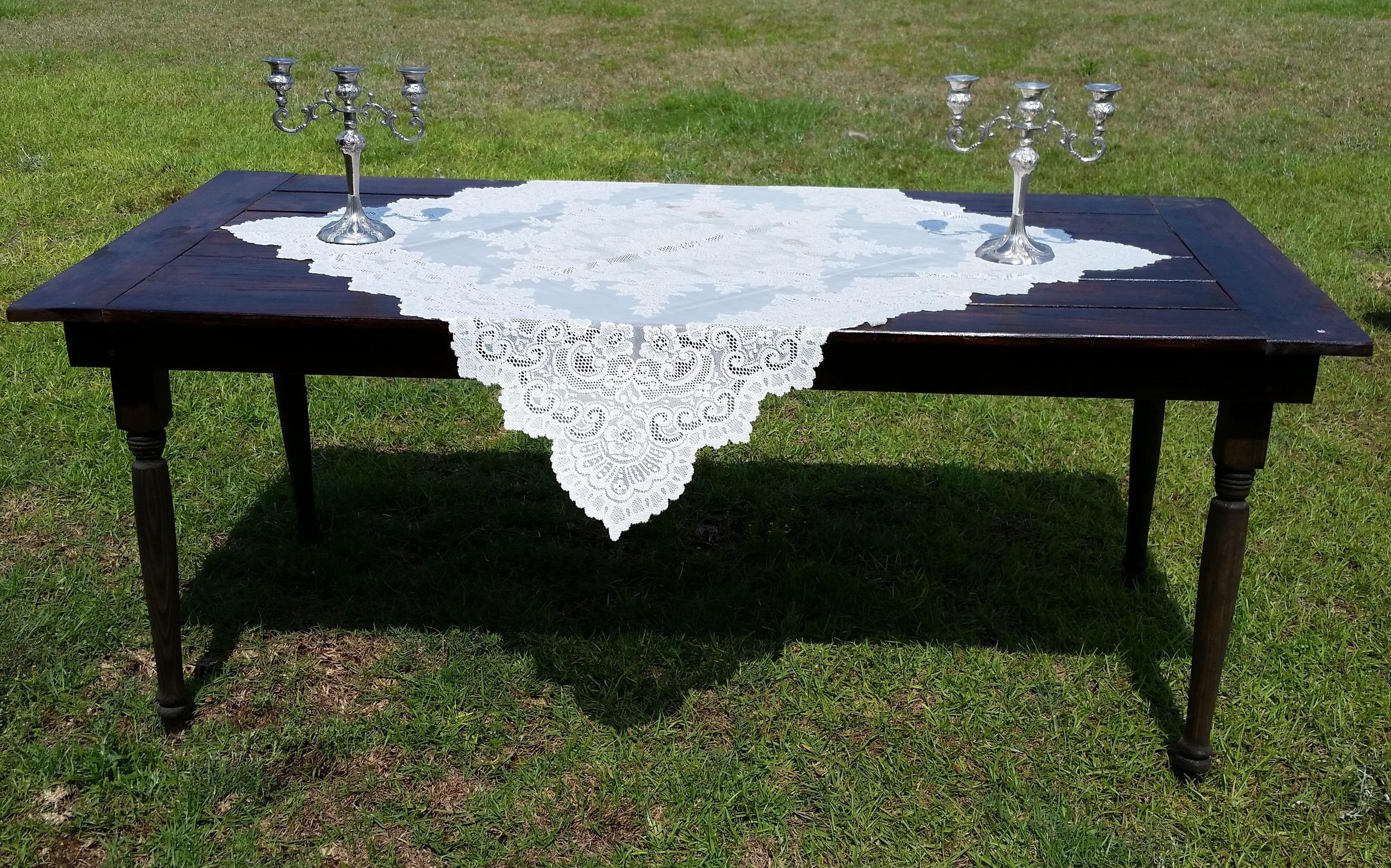Farm house table rentals