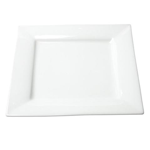White Square Dinner Plate Rentals