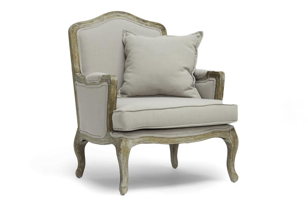 French Antique Linen Event Chair for Rent