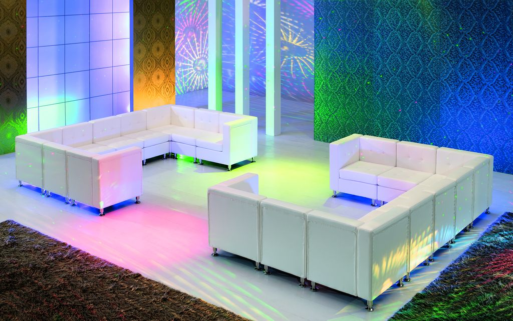 White Leather Furniture Rental