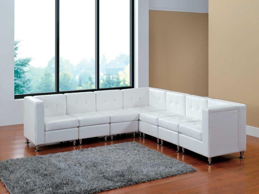 White Leather Furniture L