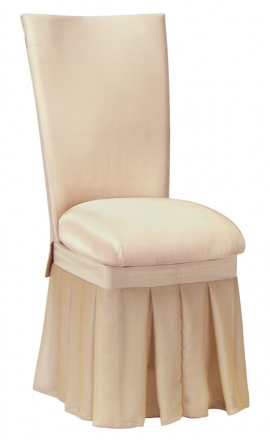 Champagne dupioni cover with bengaline cushion champagne chiffon skirt  front