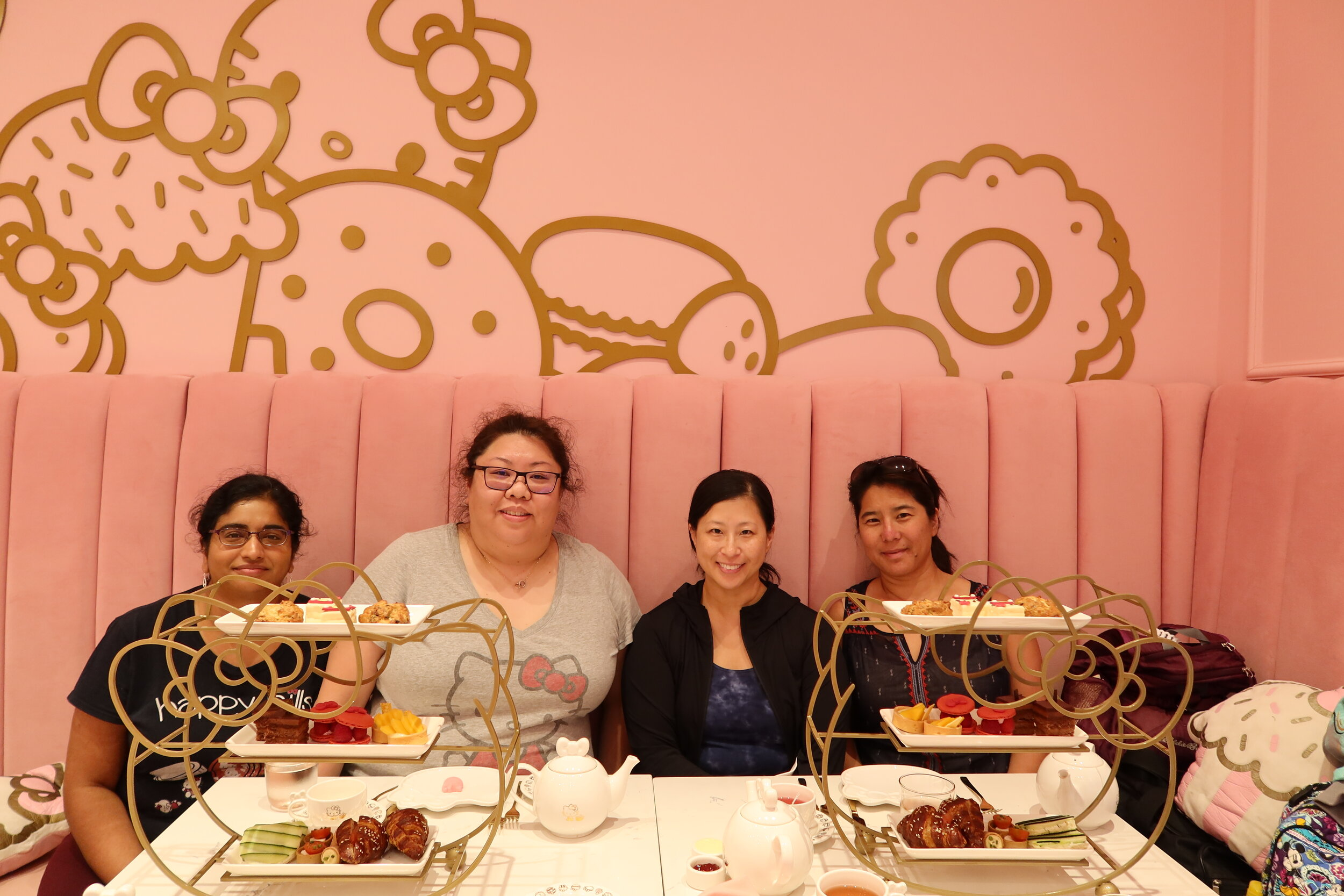 Hello KittyGrand CafeAfternoon Tea - We went to the Hello Kitty Grand Cafe in Irvine, CA. It's all in the details! Everything was adorable. Our friend Chanh even joined us from SF.