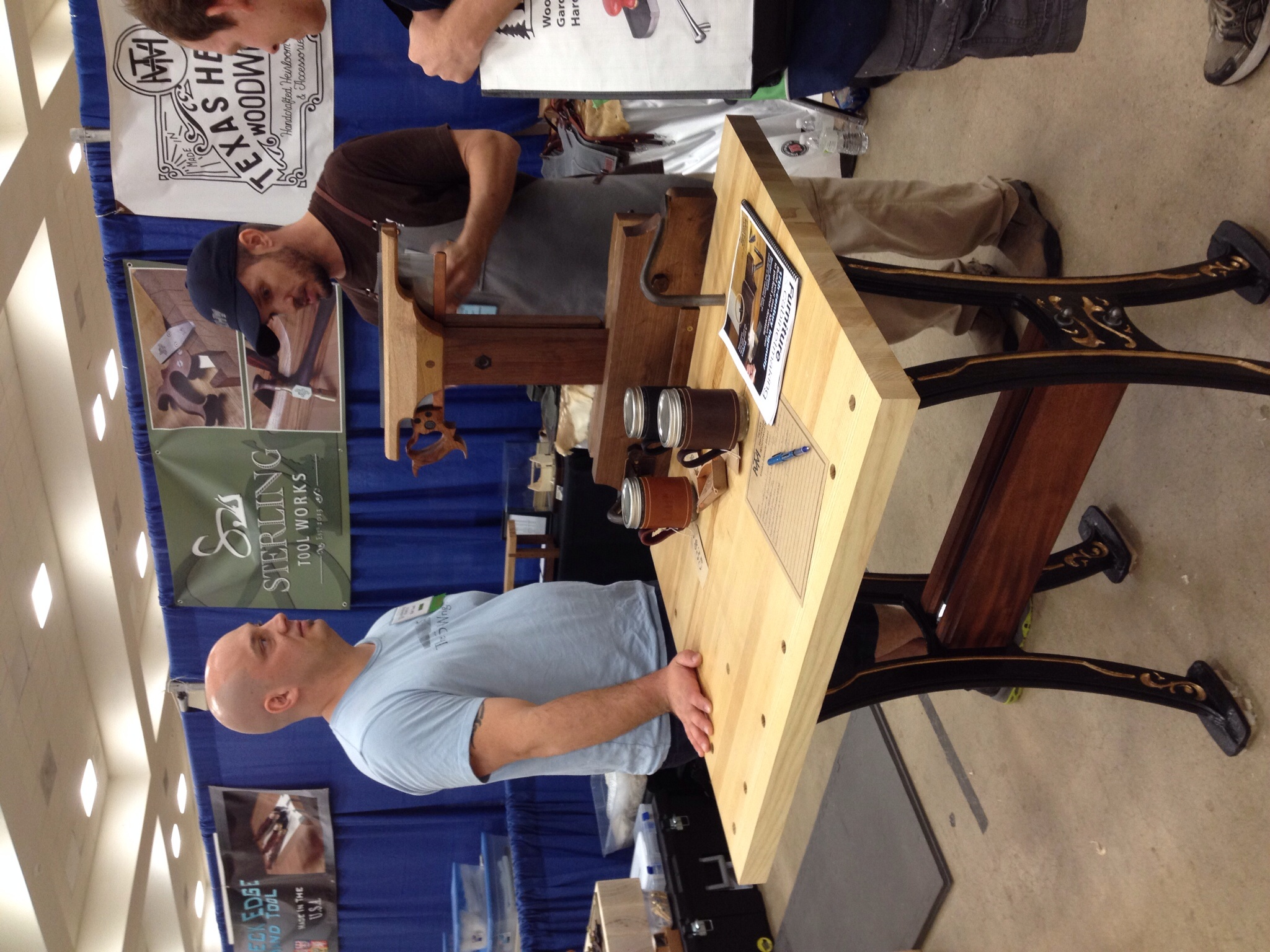 Discussing the finer points of Saw Vise construction with Matt Cianci.