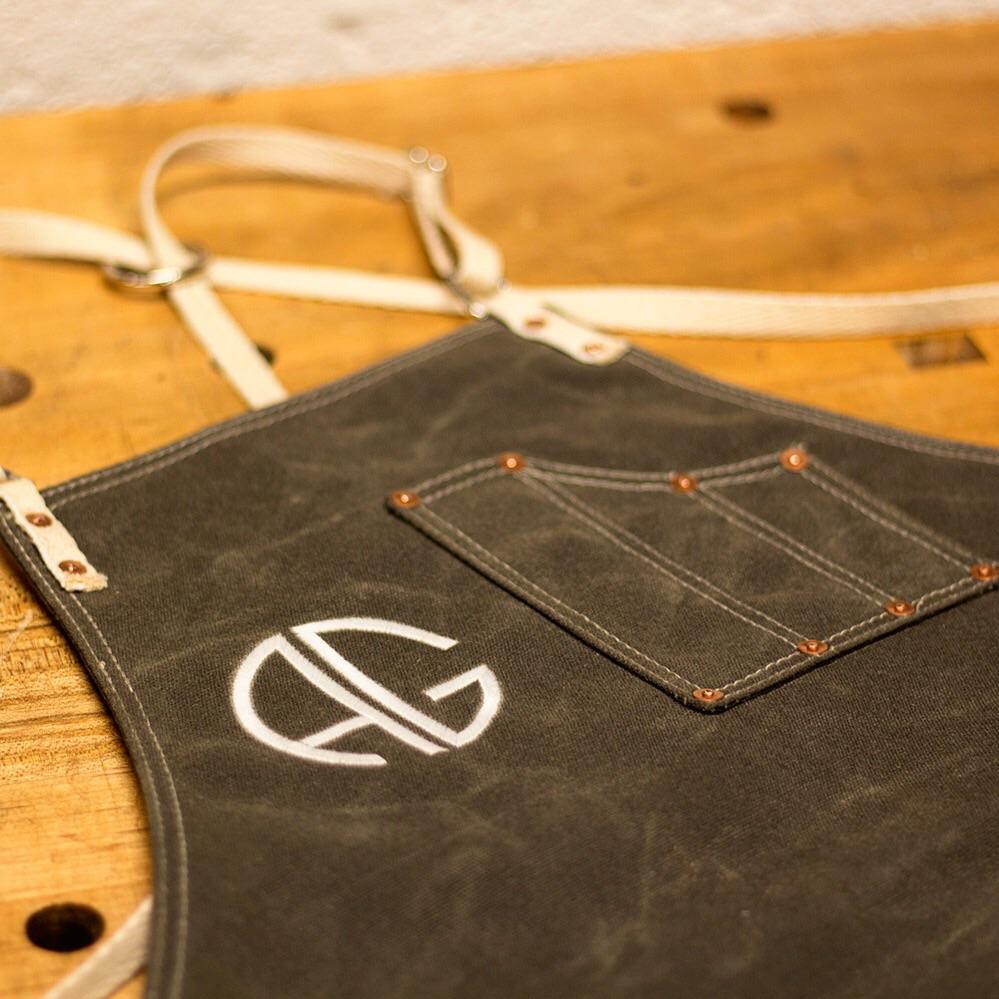 Hemp straps on waxed Olive Drab