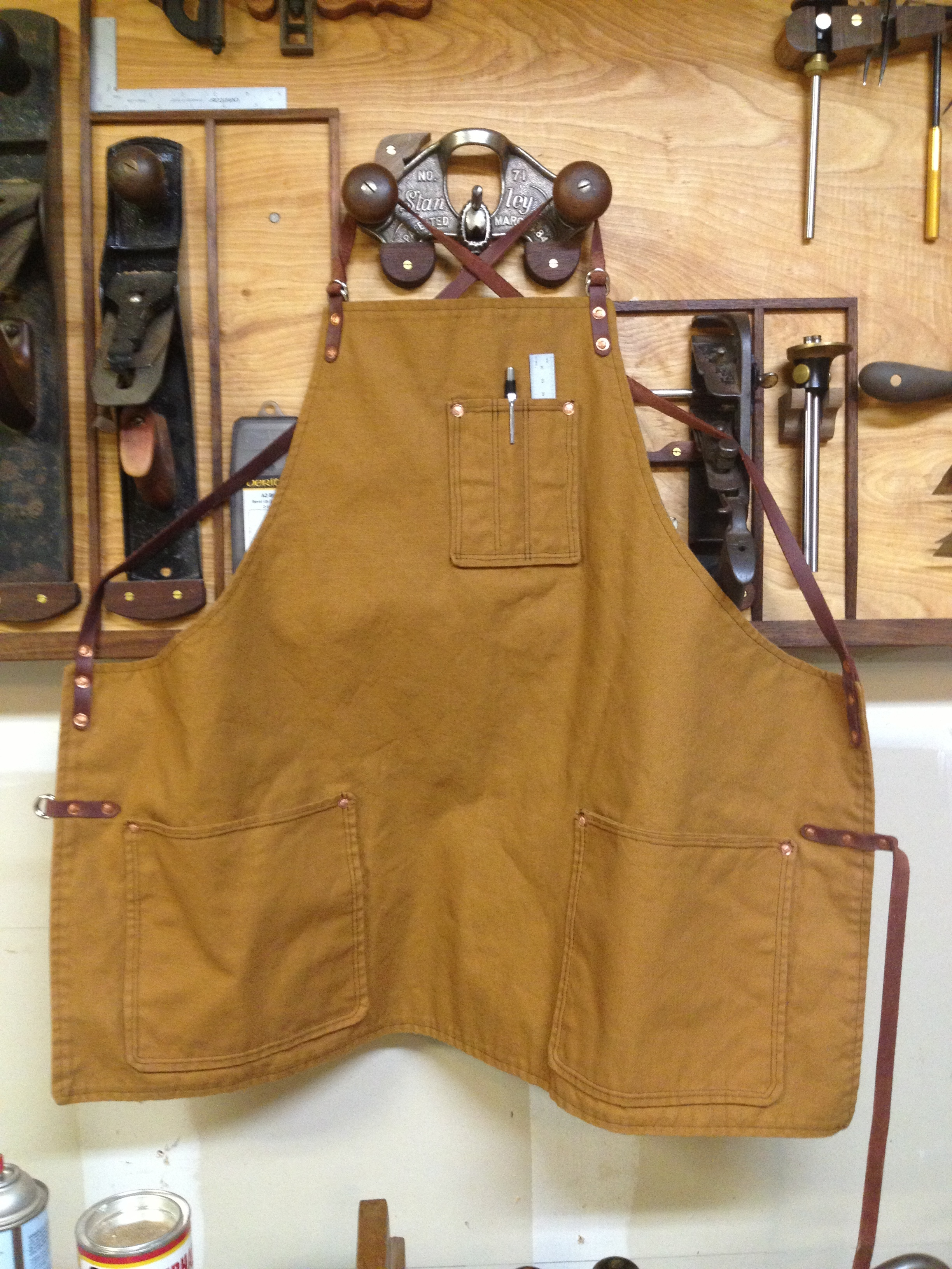 The original Texas Heritage apron. Rough around the edges, but a good start!