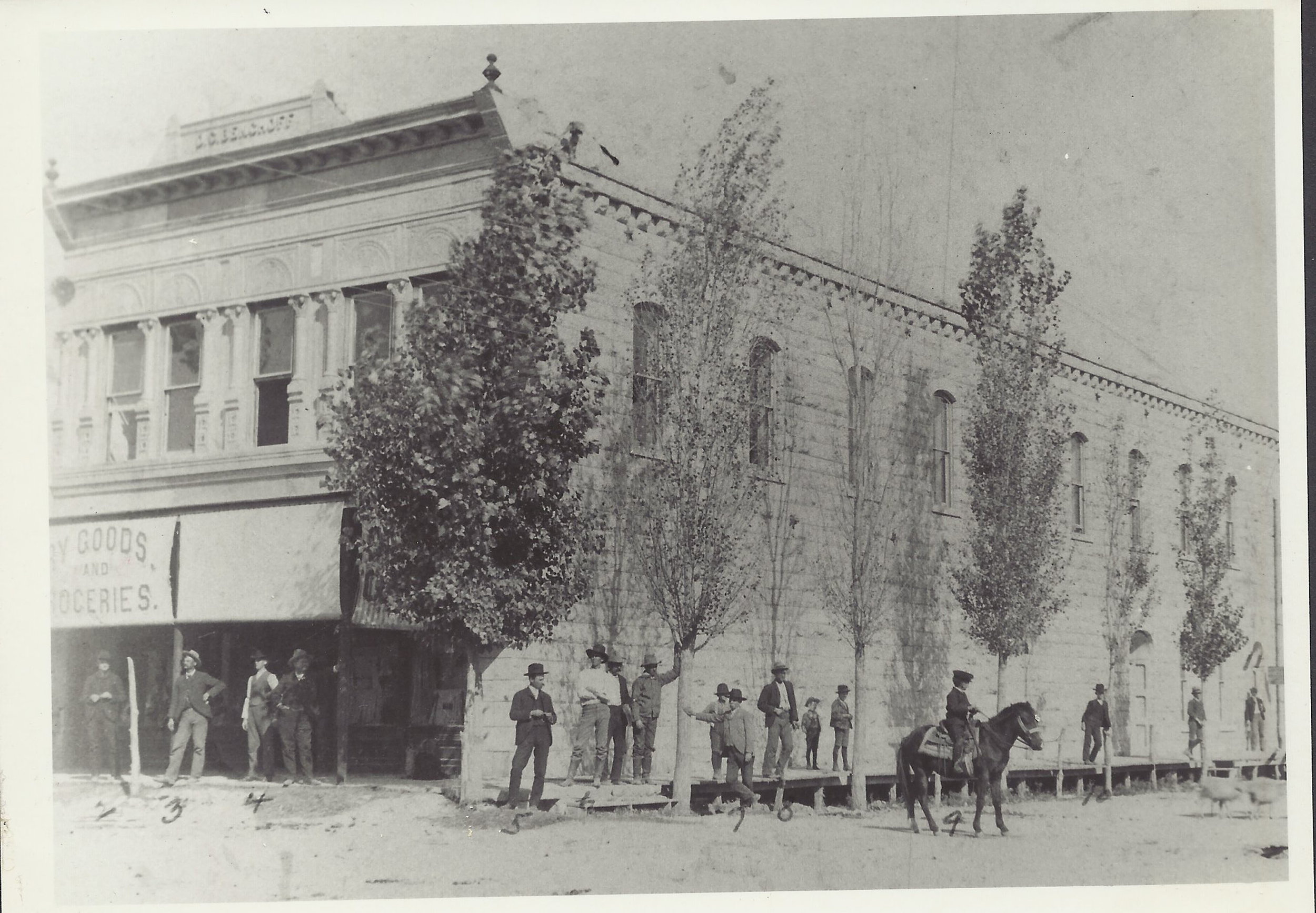 D.G. Benchoff Dry Goods and Groceries, circa 1906.