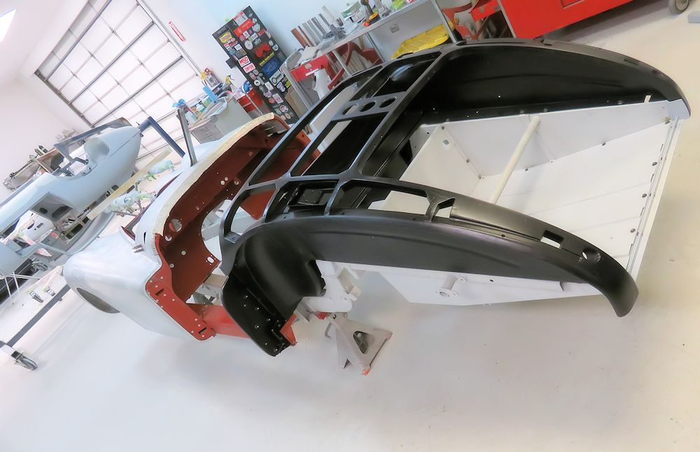 Rear Ash frame canopy has been installed for the final time