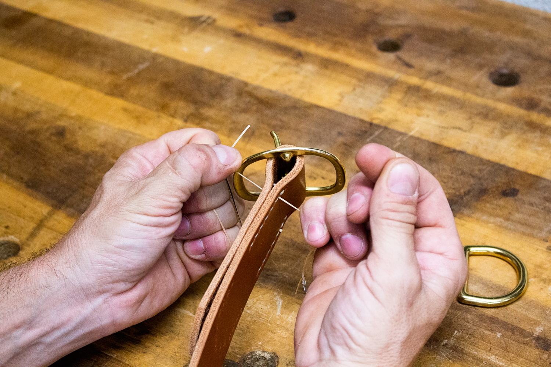 Saddle Stitching in progress