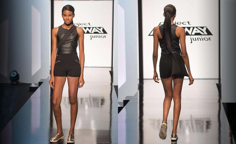 Tierra Benton wearing #DesignerVictoria Project Runway Junior S1 E4 OMG, That's Michelle Obama