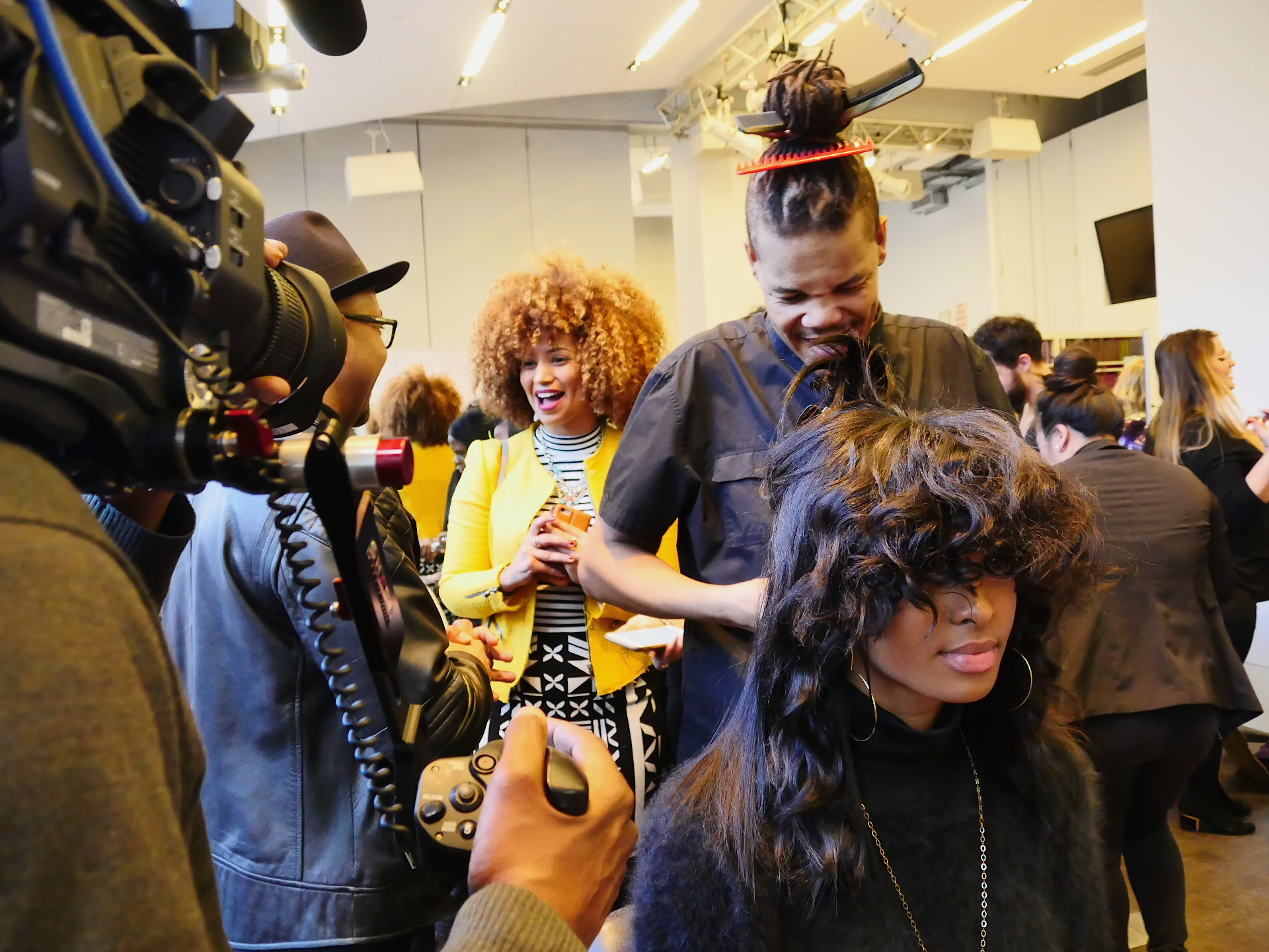 Tierra Benton gets prepared for the Texture on the Runway show