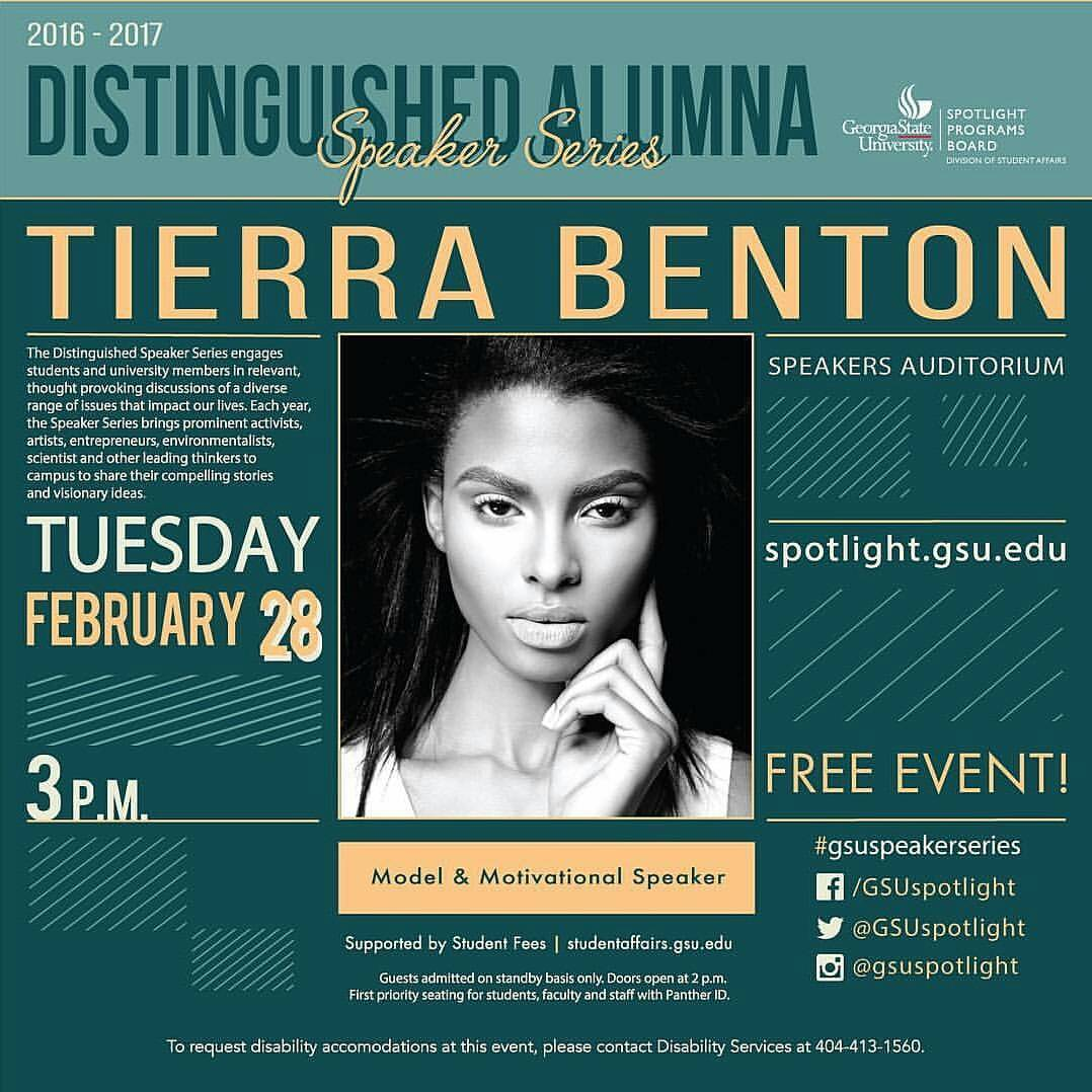Distinguished Student Speaker Series Tierra Benton