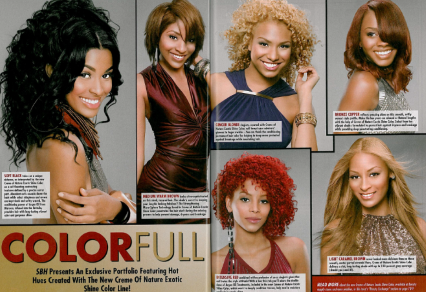 Tierra Benton met Pantene Campaign co star, Demi Grace's sister, Deborah Ayorinde (top right) in 2010 for a hair campaign with Creme of Nature.
