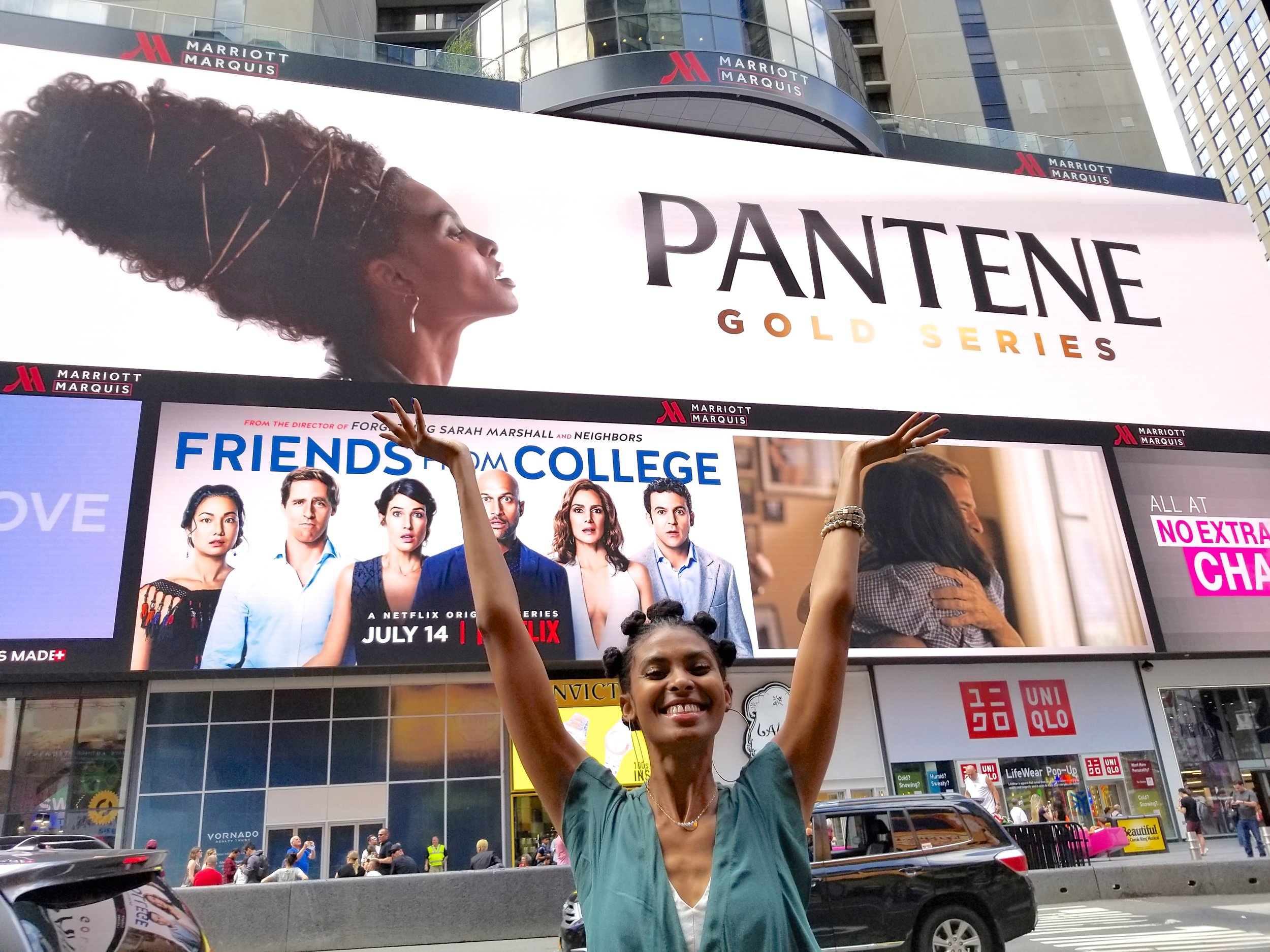 Tierra Benton featured in Times Square NY