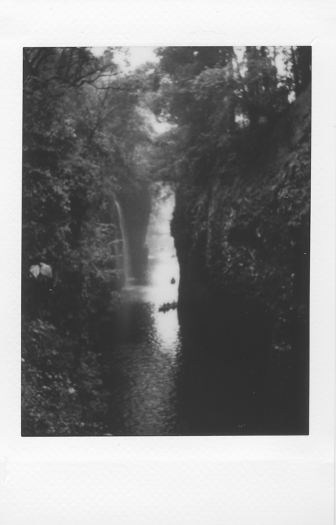 Takachiho gorge, made with a Fuji Instax Mini 90S