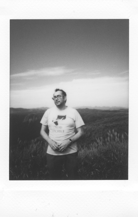 Me, Aso-San , made with a Fuji Instax Mini 90S by A (not me - obviously given that I'm in the picture)
