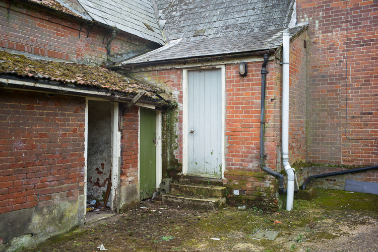 Back door, and girls toilets