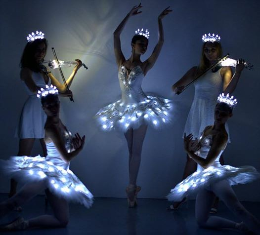 LED violinists and ballerinas