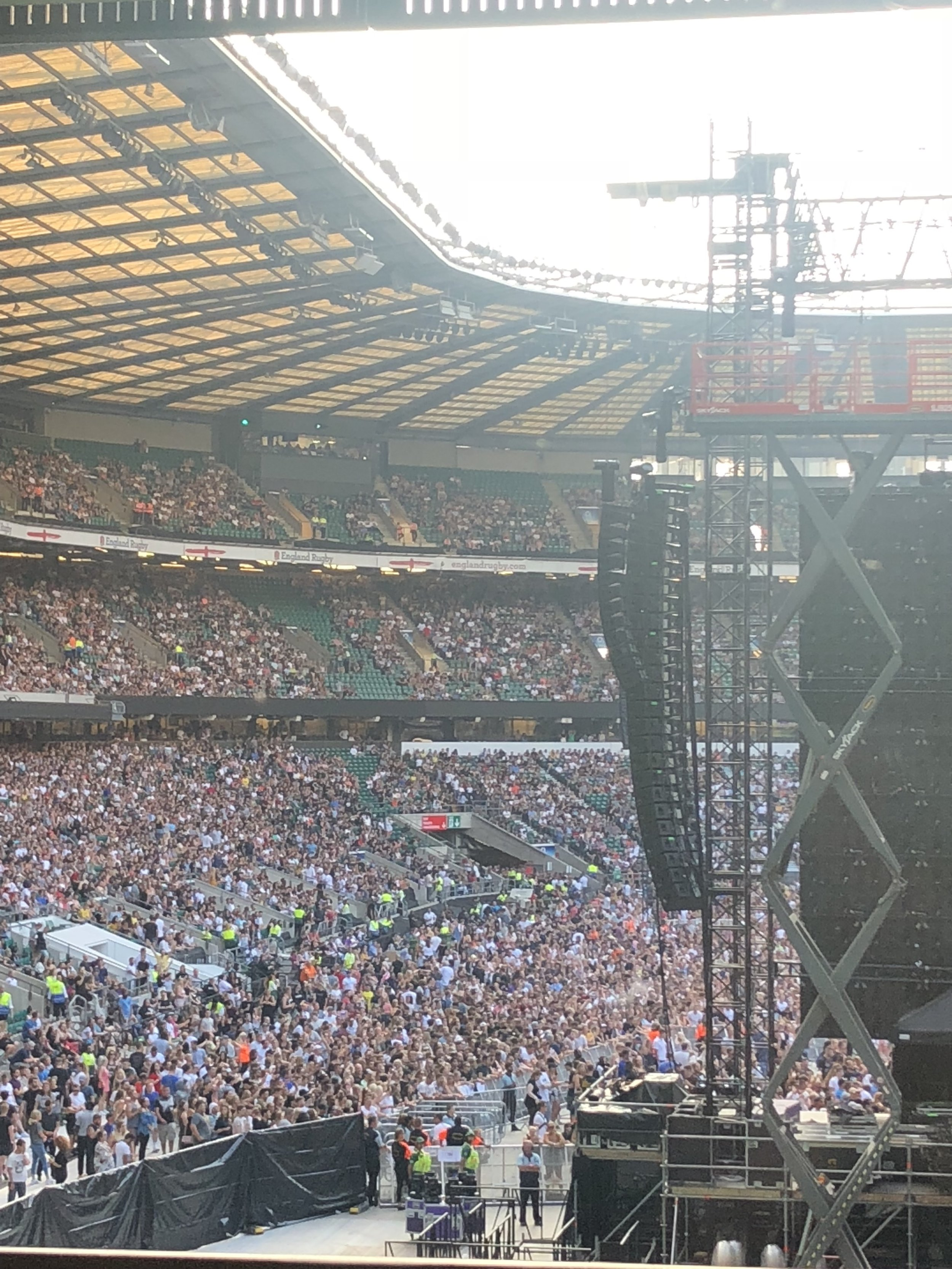 View from backstage before performing with Eminem At Twickenham