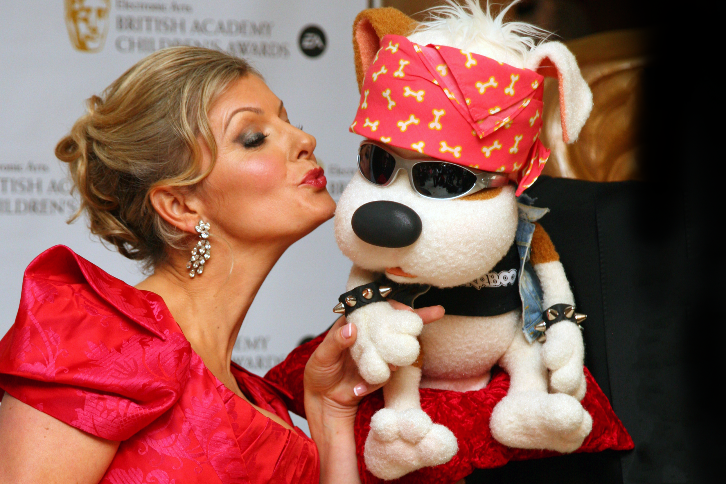 "Show creator Lucy Goodman with Bookaboo at the BAFTA Awards, winning ""Best Pre-School Live Action"" program in 2009 and 2011."