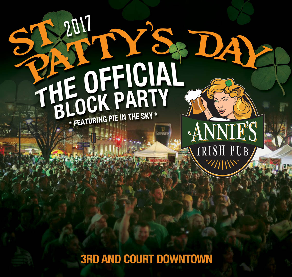 St. Paddy's Day Block Party Downtown Des Moines at Annie's Irish Pub