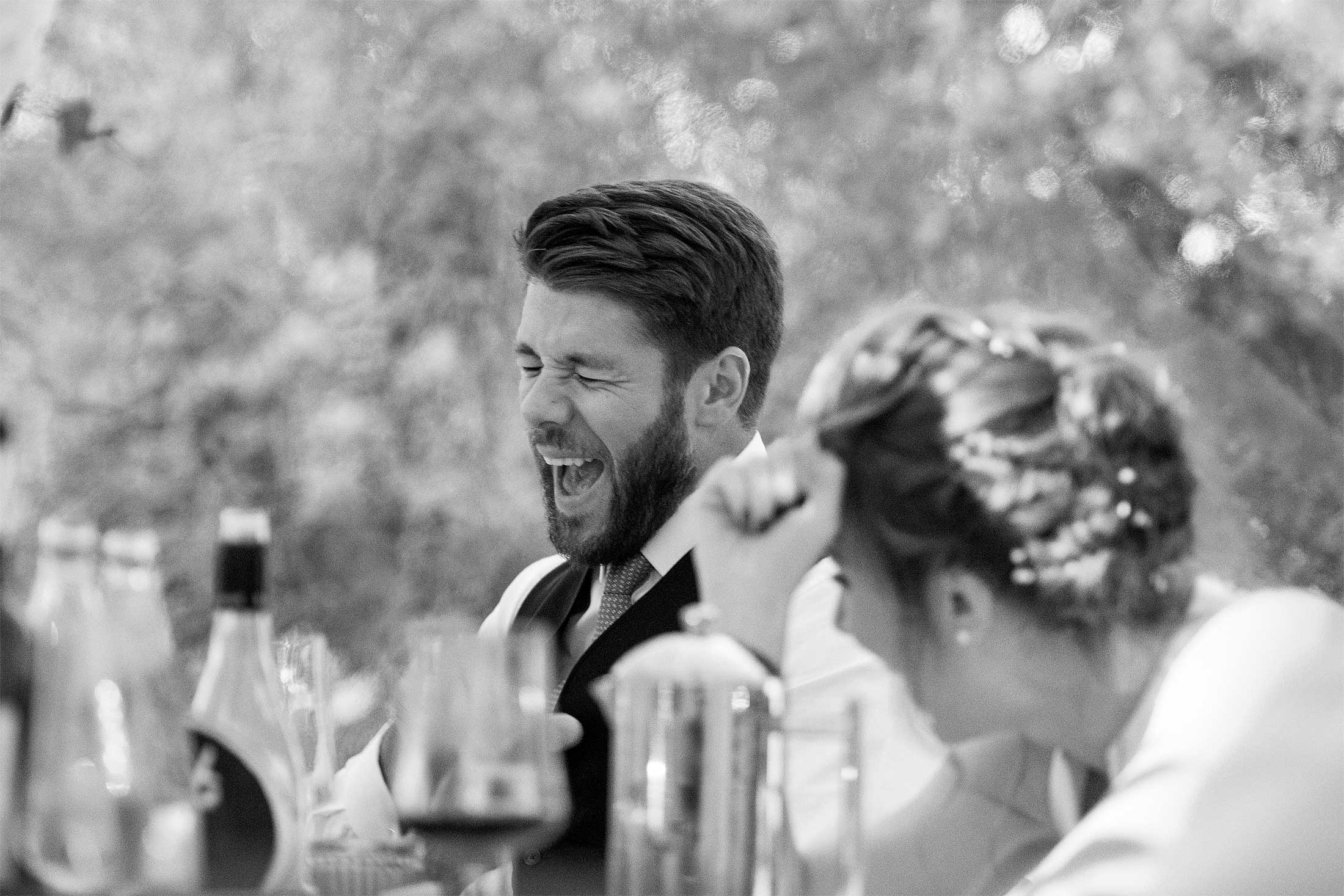 laughing groom norfolk wedding