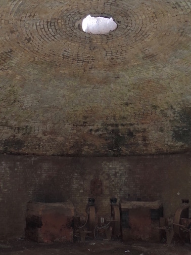 Acme/Ochs Brick Plant: Beehive kiln ruins, used throughout the 1800s until the introduction of industrial car kilns.