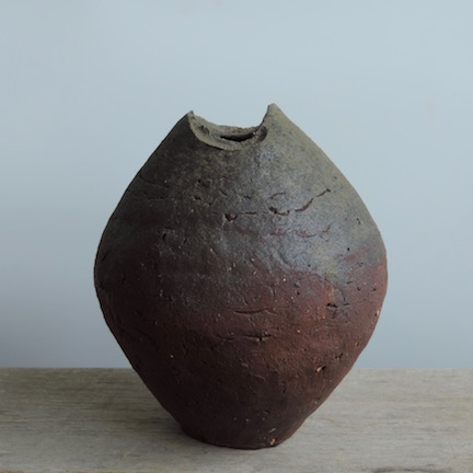 Natural Ash Glazed Vessel  North Carolina STARworks Clay, Stone Inlcusions Wood Fired in Penland, NC