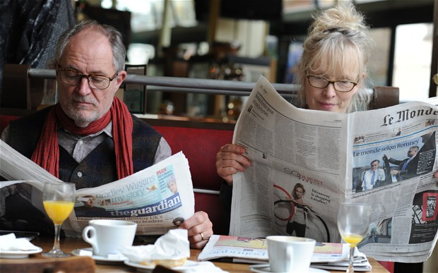 Jim Broadbent and Lindsay Duncan in  Le Week-End