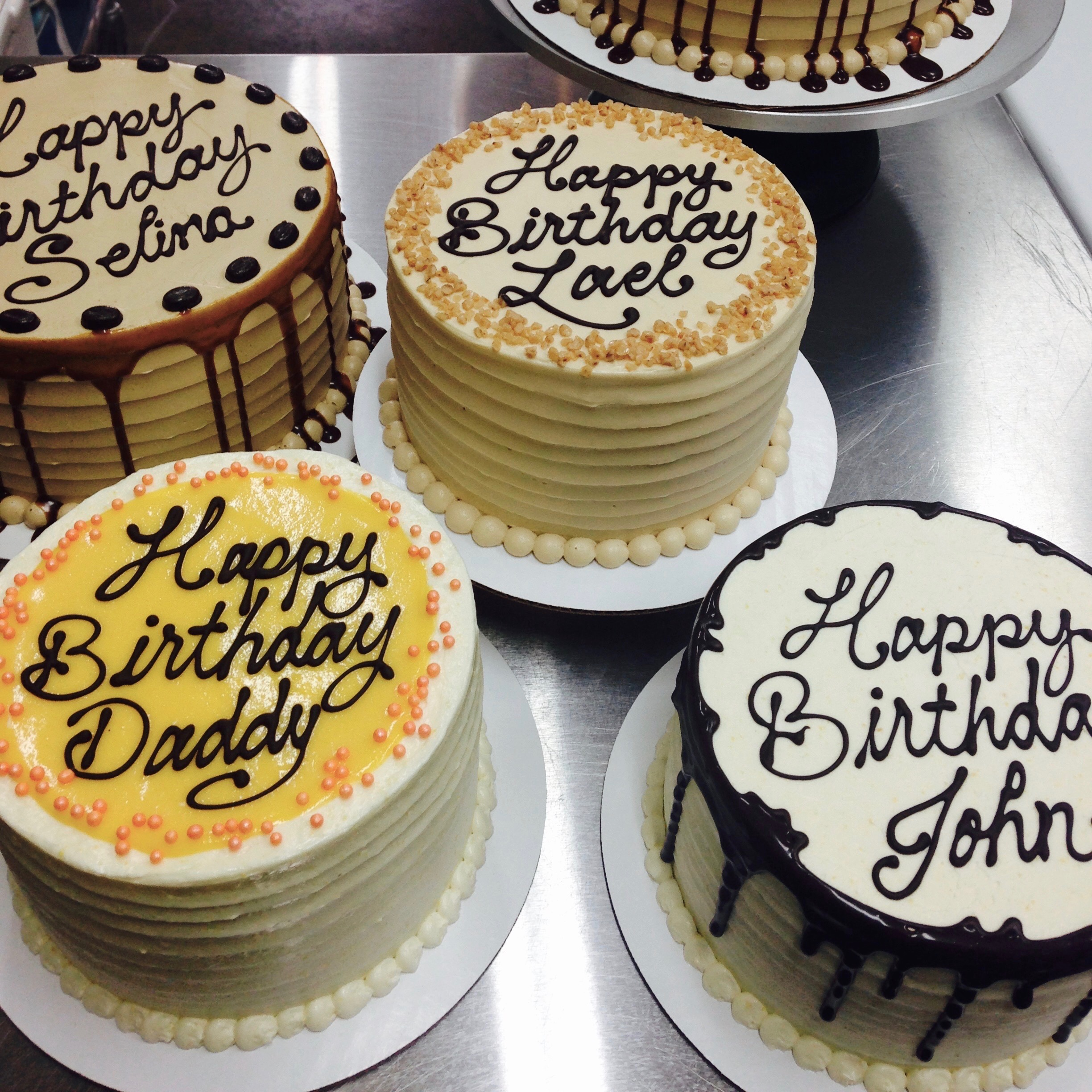 CAKE WRITING AVAILABLE ON PRE-ORDERED CAKES...