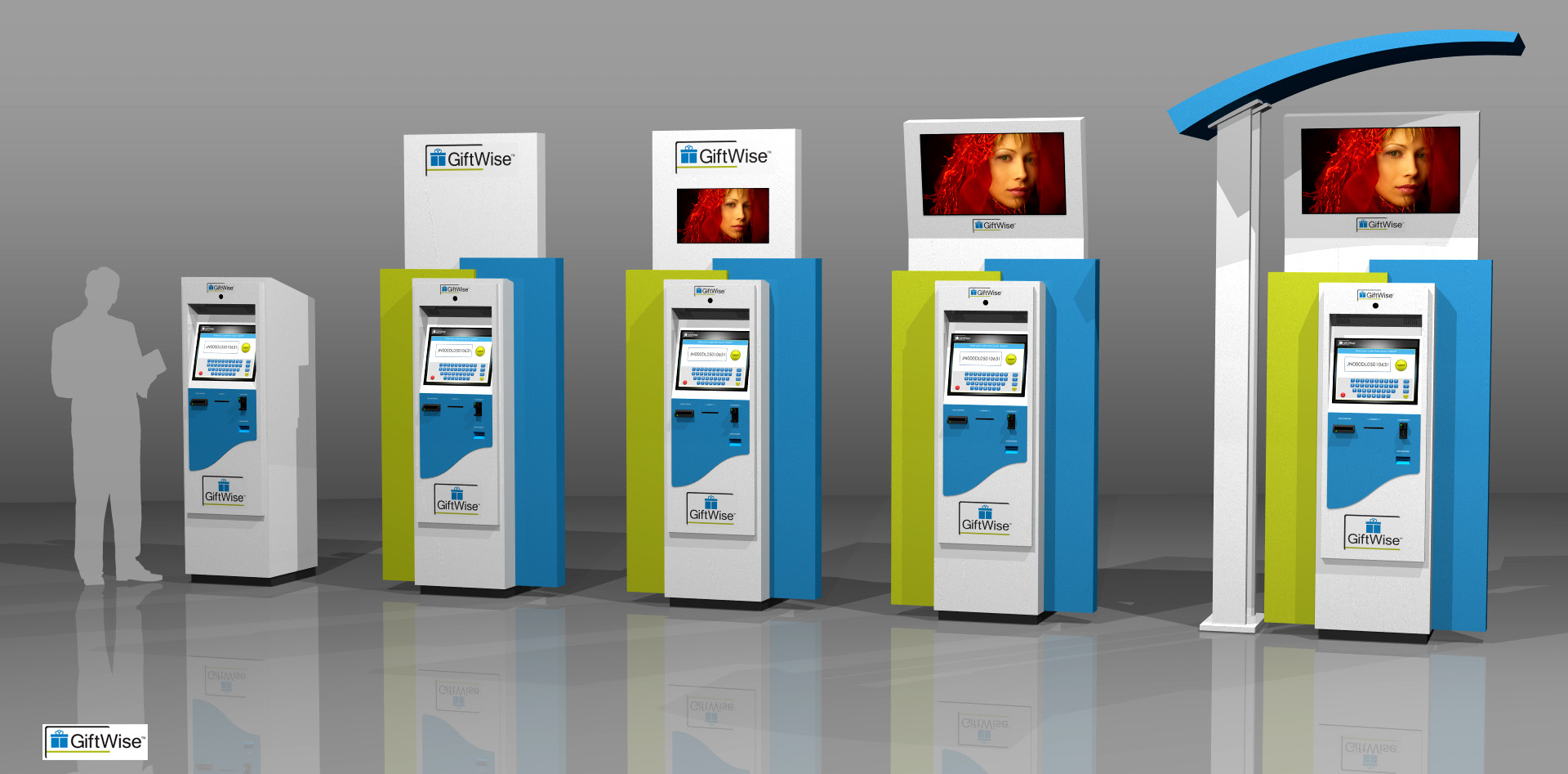 GiftWise Indoor and Outdoor Self-Service Gift Card Vending Kiosks