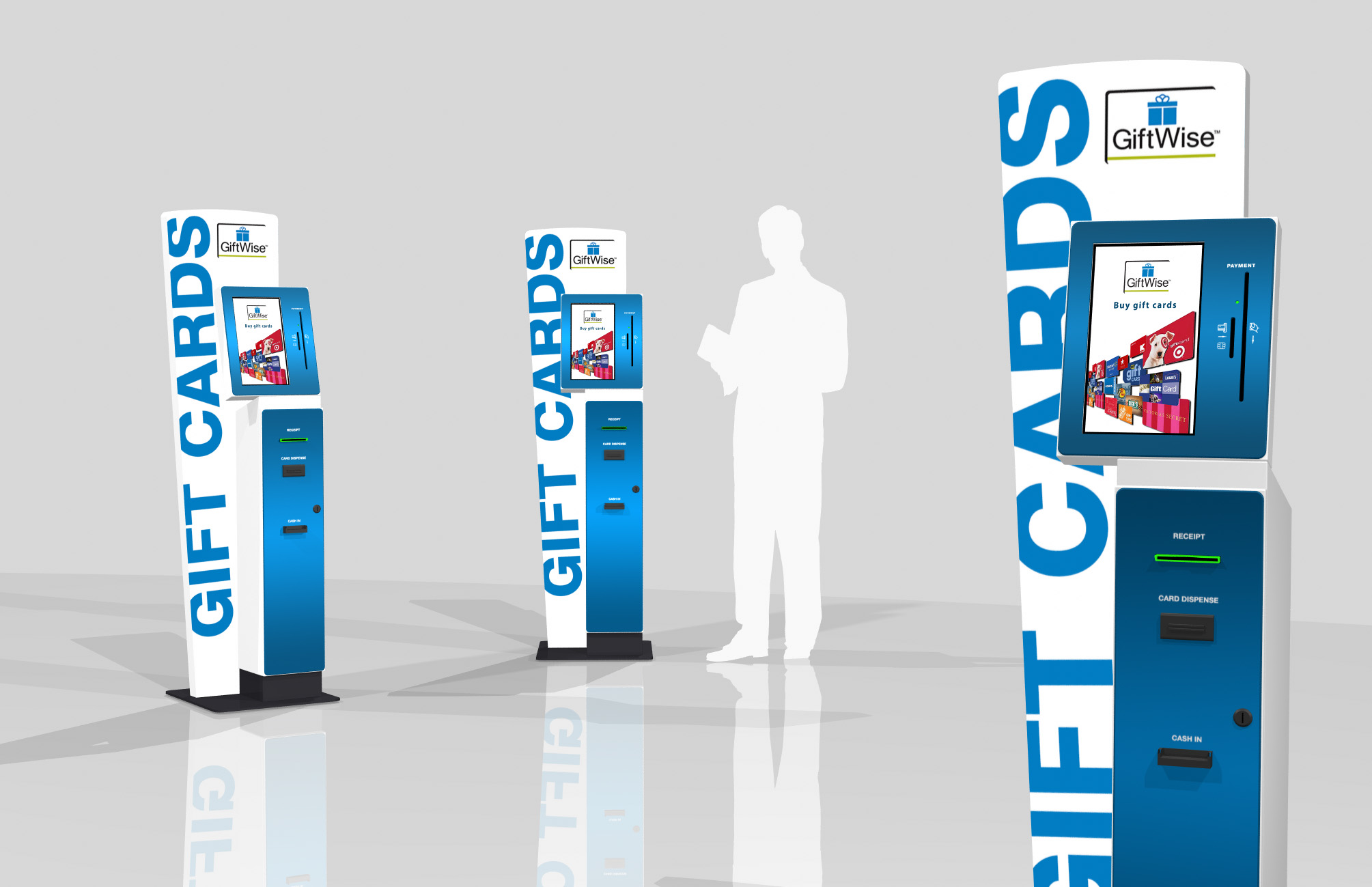 Our latest model of small footprint card dispensing kiosks - Perfect for all card dispensing applications