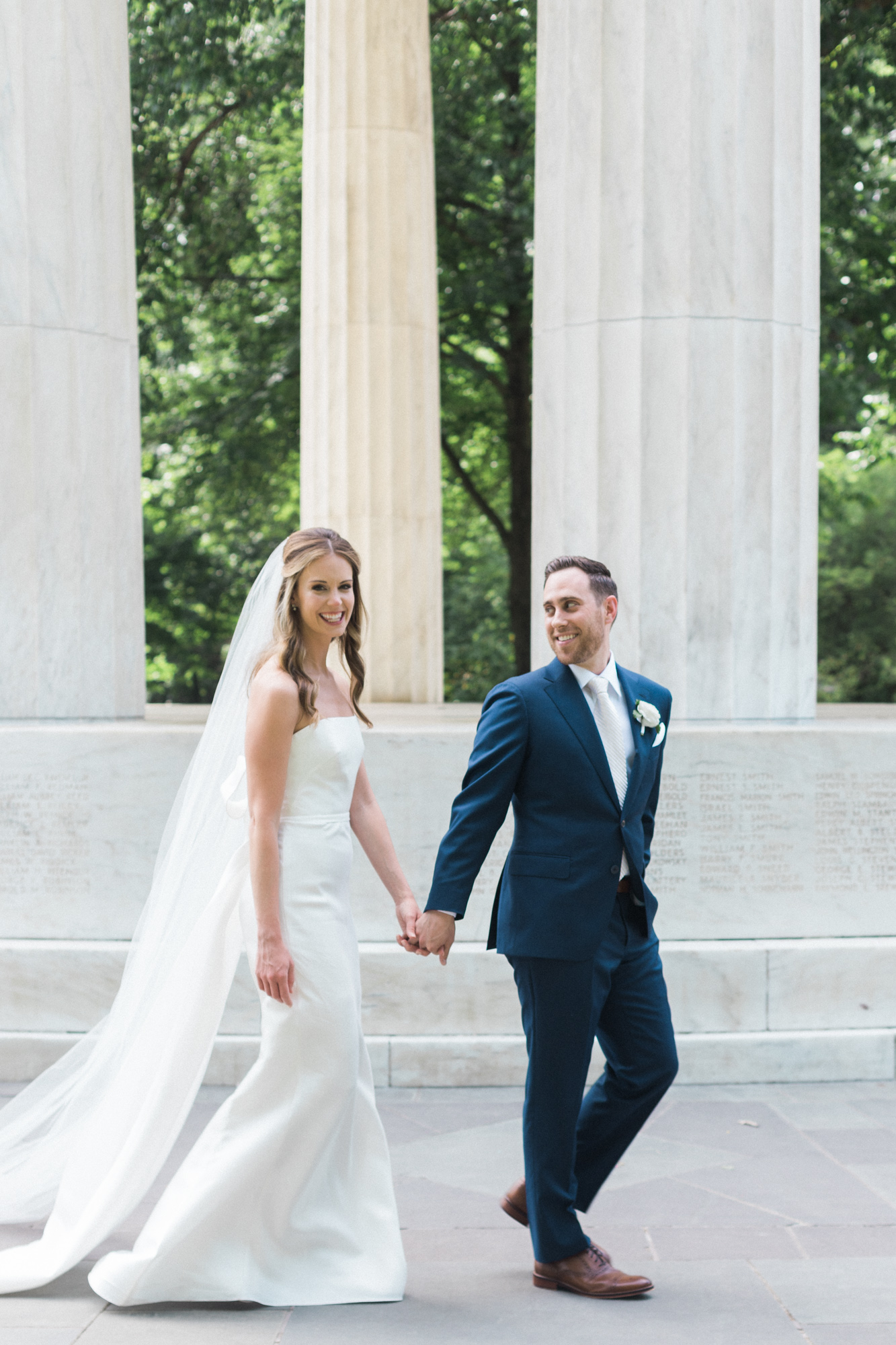 DC War Memorial Washington DC Chinoiserie Wedding Plume Photography
