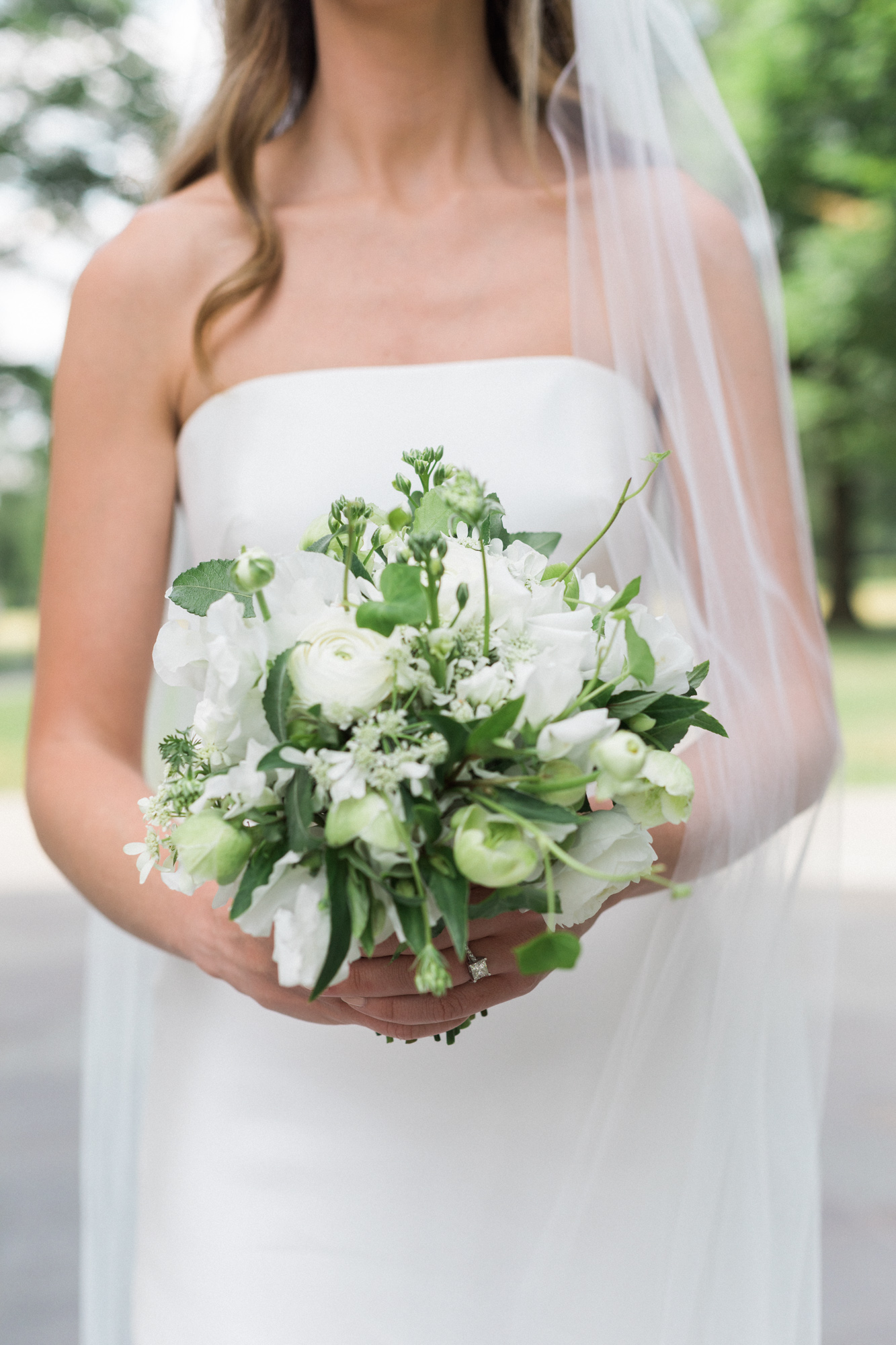 Petite White Bouquet Washington DC Chinoiserie Wedding Plume Photography