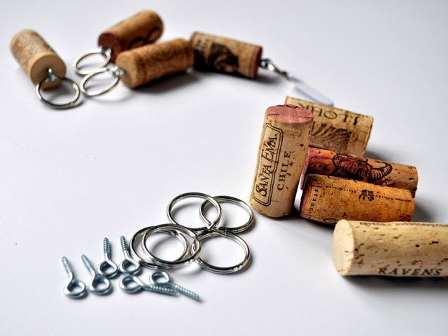 DIY Cork Keychain