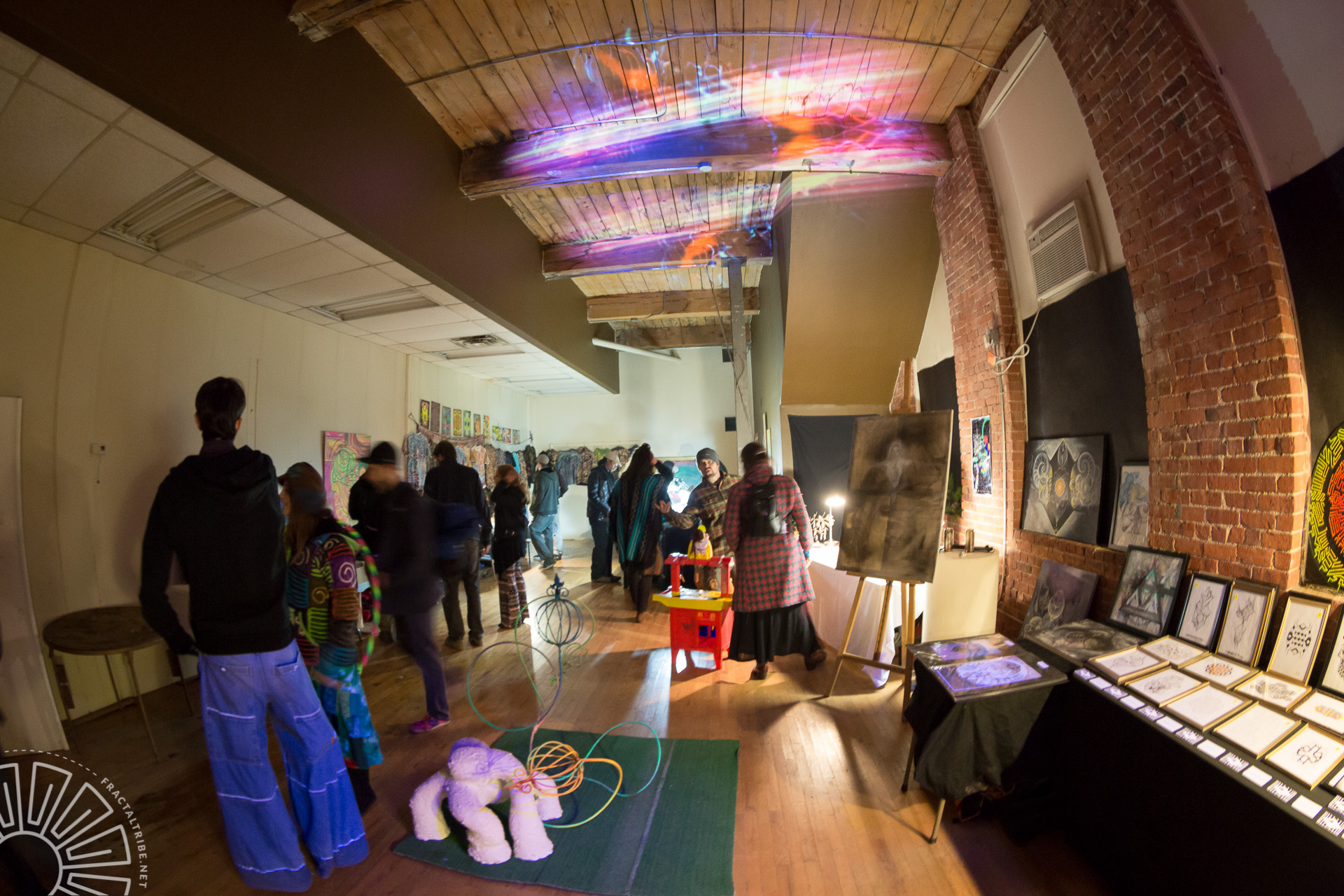 Art Gallery @ Fractaltribe's Year of the Fractilian NYE party 12/31/14 in Worcester, MA, USA