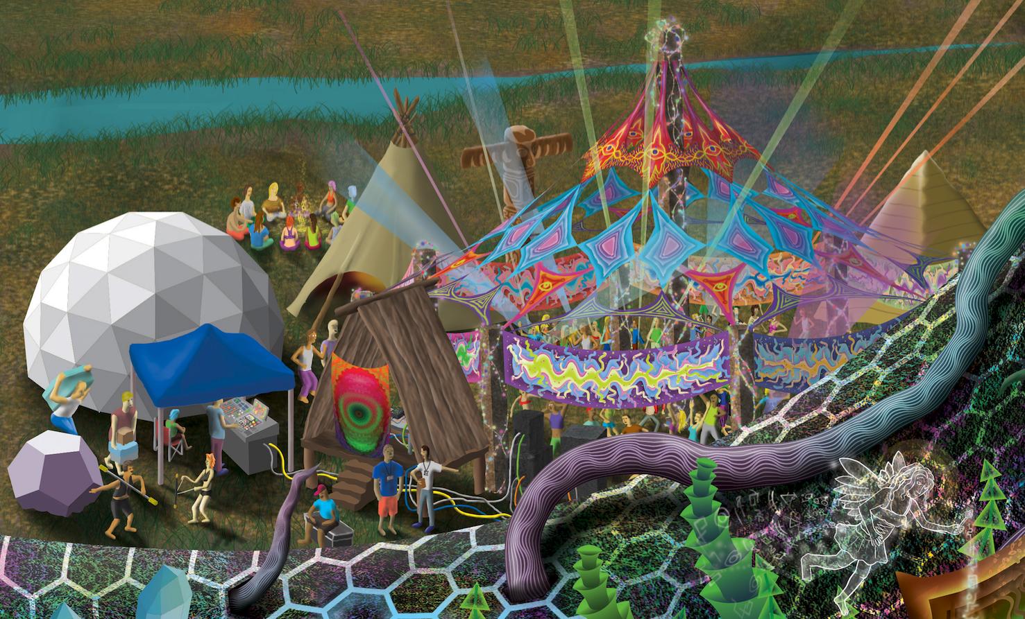 """Detail of """"Psytopia"""" by  Brett Warniers"""