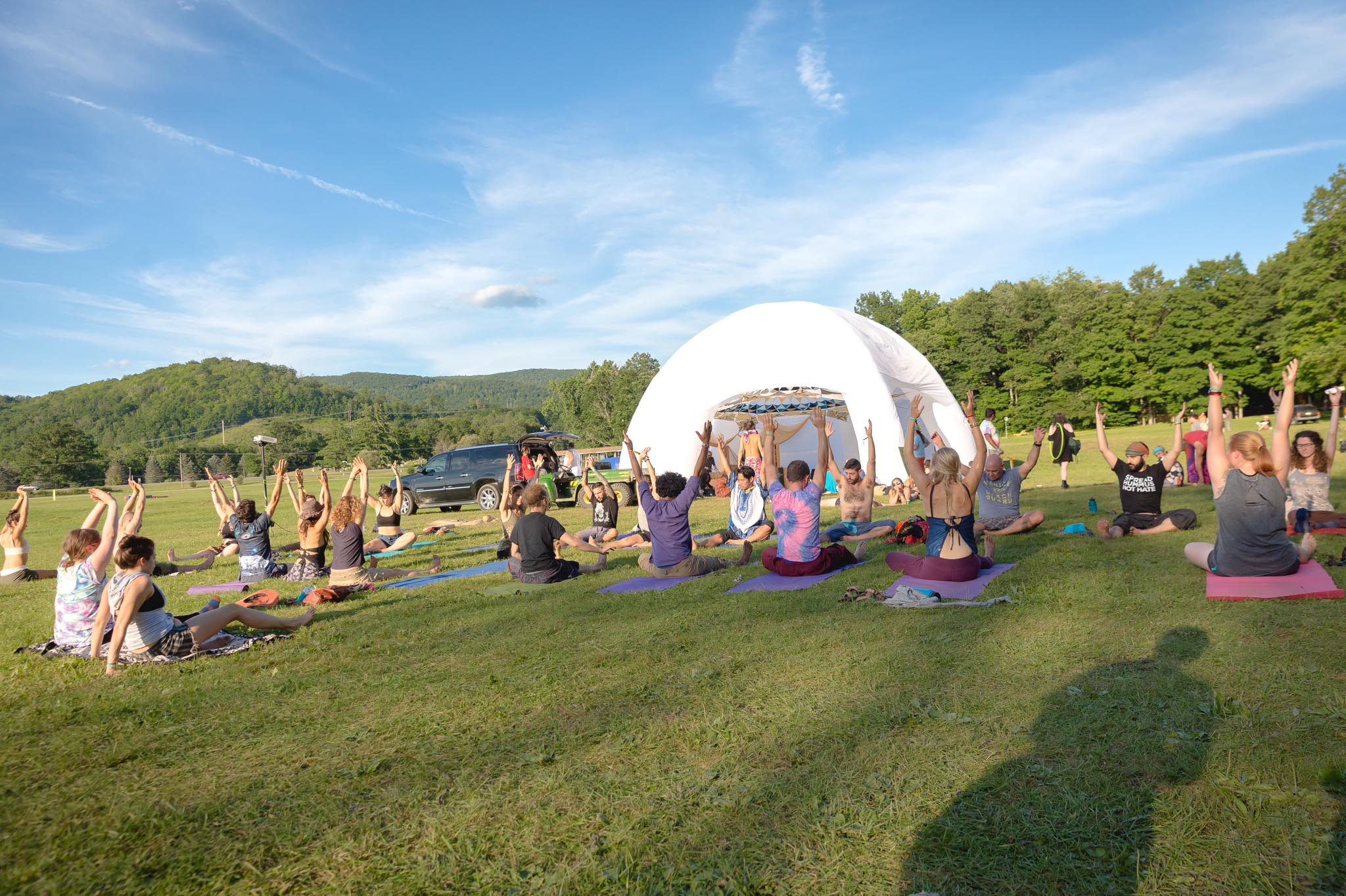 Yoga Workshop @ Fractalfest 2017 Chill Dome