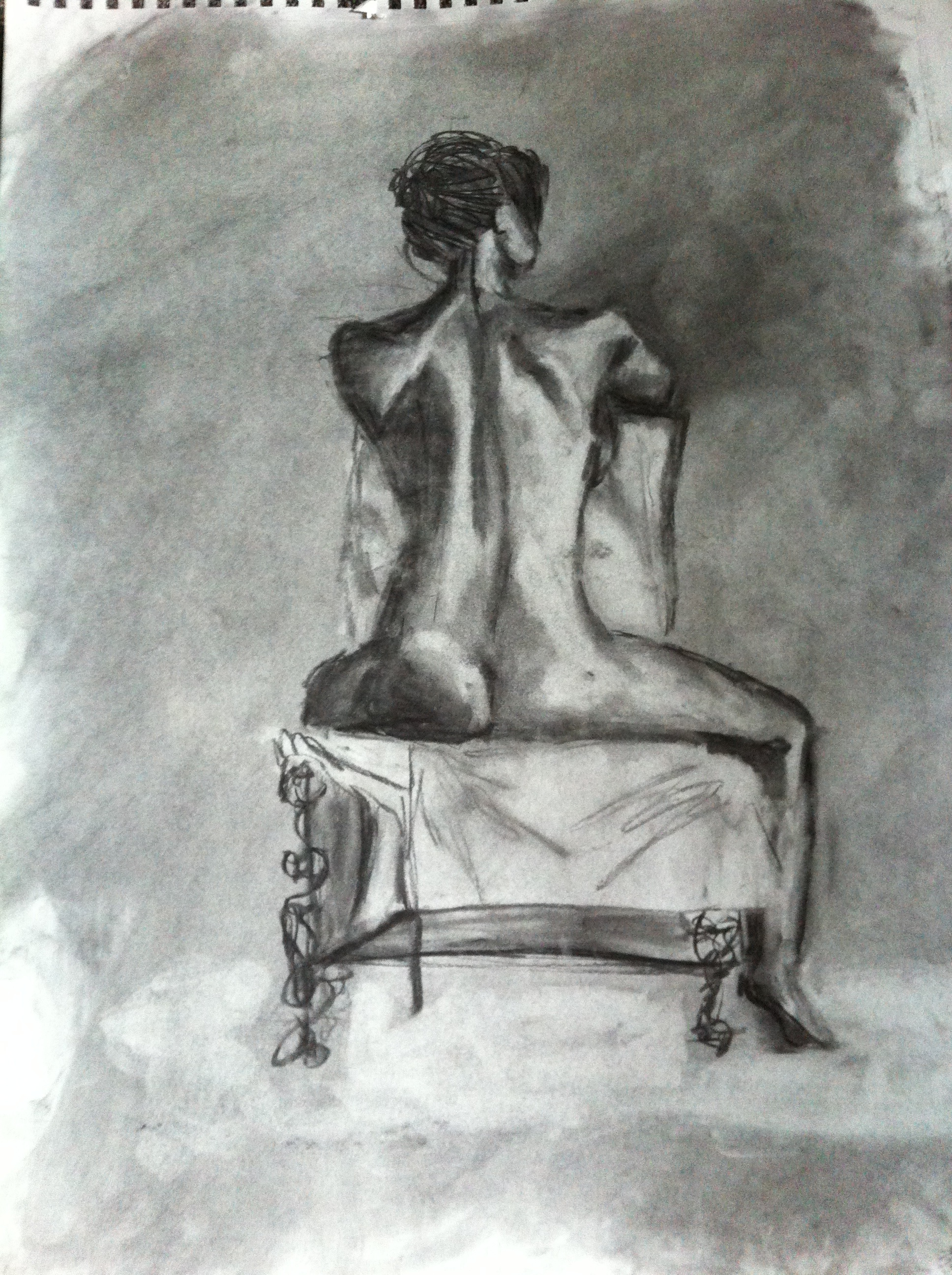 Class work for  Figure Drawing   Spring 2013